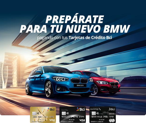 Prepárate para tu nuevo BMW pagando con tus Tarjetas de Crédito Bci.