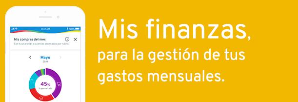 Mis finanzas,  para la gestión de tus gastos mensuales.