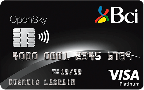 tarjeta Plan Bci Premier Open Sky Visa